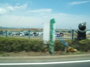 仙台東部有料道路から仙台空港に向かって