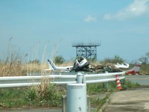 仙台空港の端の空き地
