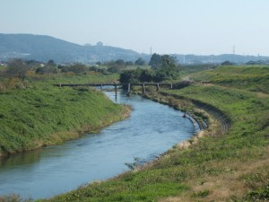 里川の落合橋