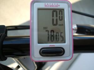 自転車のメーター(78km)