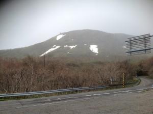 雪が降る前の駐車場からの様子