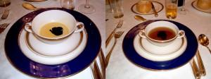 トリフとフォアグラの入った高級スープ
