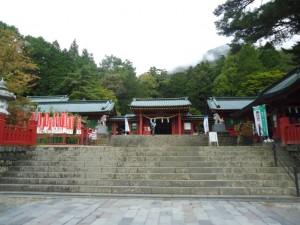 登山口の二荒山神社中宮祠